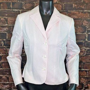 Petite Sophisticate Pink Cropped Blazer - Size 6